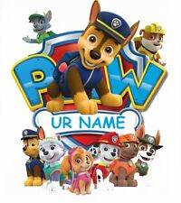 :::::::::::::::::::::PAW PATROL:::::::  PERSONALIZED T-SHIRT IRON ON TRANSFER