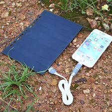 5V Solar Power Charging Panel Leaflet A5 Charger USB For Mobile Phone Samsung