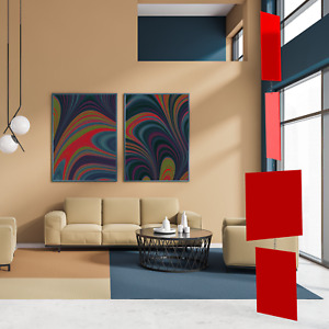 MODcast Red Mobile | Mid Century Modern Kinetic Art Mobiles + Room Dividers