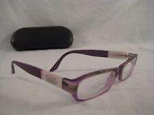 AX ARMANI Rx Eyeglasses Purple White Silver Acetate Frames Mother of Pearl Like
