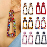 1 Pair Women Boho Geometric Dangle Drop Acrylic Resin Ear Stud Earrings Jewelry
