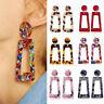 1 Pair Women Boho Geometric Dangle Drop Acrylic Resin Ear Stud Earrings Jewelry