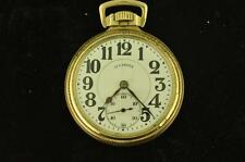 VINTAGE 16S ILLINOIS 21J A. LINCOLN OPEN FACE POCKET WATCH FROM 1917 RUNNING