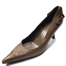 Gucci Brown Leather Pointy Toe Classic Pumps Heels Women's Size 7 C*