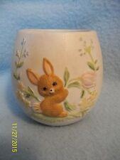 Lefton China Bunny Candle Holder 1983 Porcelain China Candle Holder ~ CUTE!