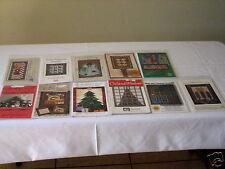 11 Asst Winter Christmas Holiday Quilt Art Craft Doll Pattern Applique Designs