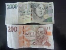 Left Over Holiday Money Czech Republic/ K� 2200 Koruna - Banknotes
