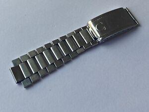 Vintage 1971 Genuine Omega Speedmaster 1039 Flat Link Watch Bracelet & Clasp