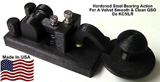 BLACK US Navy Style Mini Camel Back Morse Code Key W/ Steel Bearings By KC5ILR