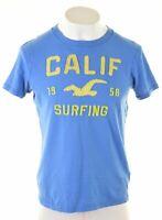 HOLLISTER Mens Graphic T-Shirt Top XL Blue Cotton  GP15