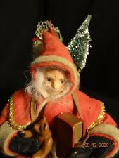 Vintage Red Santa Claus Christmas in Chimney Music box