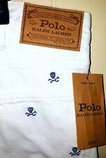 Polo Ralph Lauren Skull & Bones Slim Straight Jeans Sz 42x32 NWT $125 White