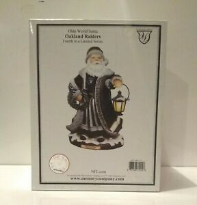 OAKLAND RAIDERS Olde World Santa Figure Memory Co 4th in a Limited Series