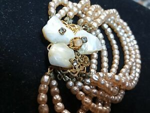 sandor jewelry Seed Pearl Bracelet 7 strands of seed pearls beautiful piece