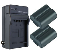 2 Pack CGA-S006A Battery + Charger for Panasonic Lumix DMC-FZ28, FZ7, FZ8, FZ50