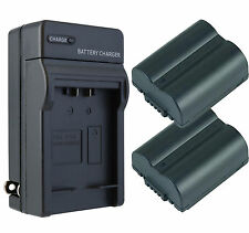2 Pack CGA-S006 Battery + Charger for Panasonic Lumix DMC-FZ35, FZ18, FZ30, FZ38