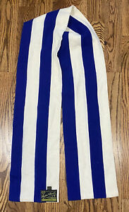 Vintage Ryder & Amies Cambridge University Wool Rowing Scarf Blue Ivory Striped