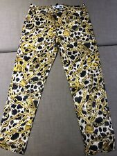 H&m Moschino Yellow Chain Print Pants BNWT Size 36 Or Aus 8