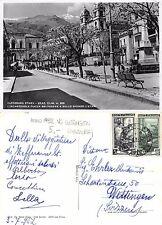 Zafferana Etnea - Piazza Belvedere e Etna VG. WETTINGEN SVIZZERA 1952 (A-L 593)