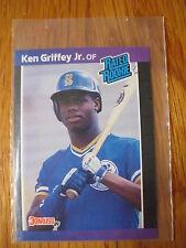 vintage 1989 Ken Griffey BASEBALL CARD Donruss 33 Seattle Mariners rated rookie