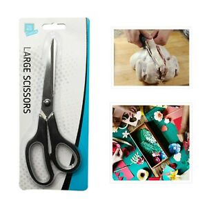 ⭐Large Black Soft Grip Scissors Stainless Kitchen Home Office 8.5 inches/ 21.5cm