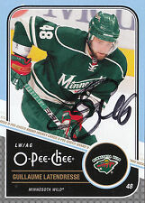 GUILLAUME LATENDRESSE WILD AUTOGRAPH AUTO 11/12 O-PEE-CHEE OPC #28 *27309