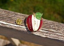 WA OM 1998 Creative To The Core Apple Gold Tone Metal & Enamel Lapel Pin Pinback