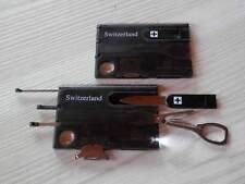 Card multiuso Switzerland da portafoglio nera con torcia LED