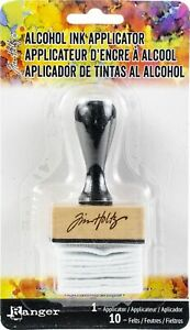 Ranger Tim Holtz Adirondack Alcohol Ink Applicator-Stamp Handle W/10 Felts