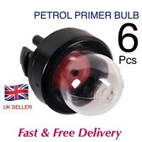 6 X CHAINSAW FUEL PRIMER PUMP / BULB  ( PUSH FIT )
