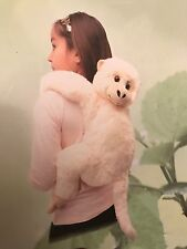 "CREAM Chimp Backpack Kiwi Chimpanzee Monkey 19"" Stuffed Plush Animal UP1875MKC"