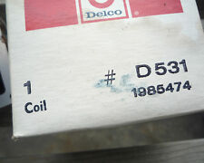 DELCO REMY D531  1985474 IGNITION COIL NOS FITS MANY 70'S & 80'S