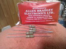 5 X ALLEN BRADLEY 1 watt carbon  resistors - 15 ohm BRITISH GOOD QUALITY