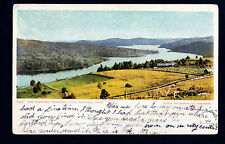 1907 view the Narrows Highland Lake Winsted Connecticut postcard