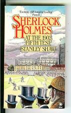 SHERLOCK HOLMES AT THE 1902 FIFTH TEST by Shaw, rare British pulp vintage pb