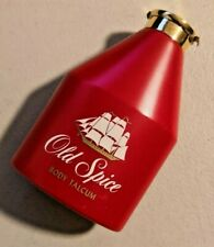 Vintage Red Old Spice Body Talcum bottle 4 oz. Shulton made in USA NOS  -- 3117