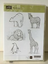 Stampin Up ZOO REVIEW Clear Mount Baby Animals Zebra Polar Bear Penguin Giraffe
