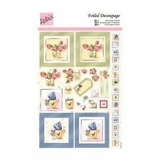 ANITAS FOILED DECOUPAGE FOR CARDS OR CRAFTS - TEA CUP FLOWERS