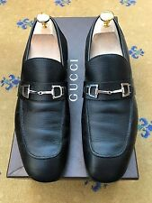 Gucci Men's Shoes Black Leather Horsebit Loafers UK 6 US 7 EU 40 Made in Italy