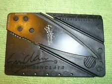 NEW IAN SINCLAIR CARDSHARP Knife Credit Card Thin Wallet Survival Tool U.S.SHIP
