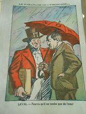 Le Parapluie de l'escouade Pourvu qu'il ne tombe que de l'eau Humour Print 1935