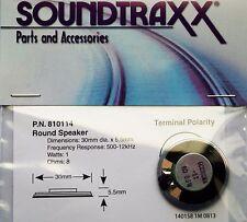 Soundtraxx Speaker 30mm Round. 8 ohms high output, great sound