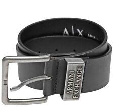 "Armani Exchange Men Inner Logo BELT New With Tags ""90"" Black"