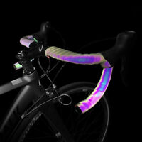 E! Cycling Bicycle Handlebar Tape Light Reflective Bike Bar Tape Wrap Pu Leat kw