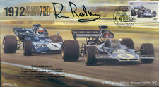 1972 JPS Lotus 72D, Tyrell 003 Marcas Escotilla F1 Cubierta firmado Brian Redman