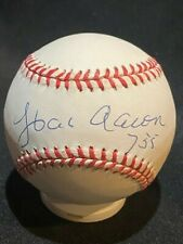 Hank Aaron 755 - Signed Autographed Official National League Baseball - JSA