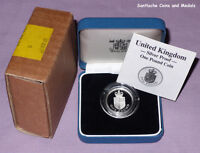1988 ROYAL MINT SILVER PROOF £1 COIN - Royal Shield Arms - ONE OFF DESIGN