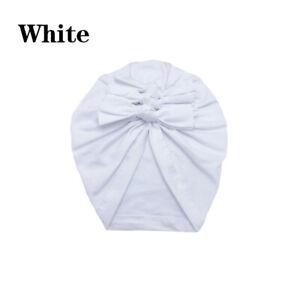 Newborn Kids Turban Knot Headband Head Wrap Baby Cotton Stretch Pleated Cute