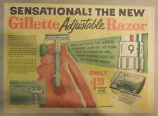 Gillette Razor Ad: Sensational! The New Gillette Adjustable Razor ! from 1950's