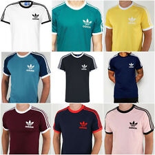 Original  Adidas Mens Trefoil California Tees Crew Neck Retro T Shirt S M L XL
